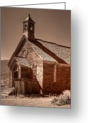 Gold Rush Greeting Cards - Bodie State Historic Park California Church Greeting Card by Scott McGuire