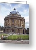 Cobblestones Greeting Cards - Bodlien Library Radcliffe Camera Greeting Card by Jane Rix