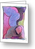 Gymnastics Drawings Greeting Cards - Body 18 Greeting Card by Dan Daulby
