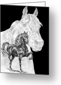 Gaited  Horse Greeting Cards - Body Mind and Spirit - Morgan Horse Print  Greeting Card by Kelli Swan