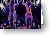 Striptease Greeting Cards - Body Scan Greeting Card by Rachel Christine Nowicki