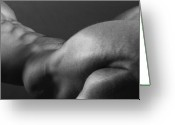 Figure Photo Greeting Cards - Bodyscape Greeting Card by Thomas Mitchell