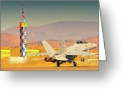 Superhornet Greeting Cards - Boeing F18 Superhornet Does Reno 2010 Greeting Card by Gus McCrea