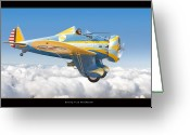 Military Artwork Greeting Cards - Boeing P-26 Peashooter Greeting Card by Larry McManus