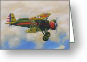 Fighters Painting Greeting Cards - Boeing P12 Greeting Card by Murray McLeod