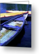Featured Artwork Prints Greeting Cards - Bois de Boulogne Boats Greeting Card by Kathy Yates