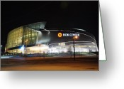 Oklahoma Landscape Greeting Cards - BOK Center Greeting Card by Terry Anderson