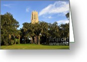 Signing Greeting Cards - Bok Tower Sanctuary Greeting Card by David Lee Thompson