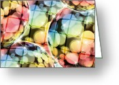 Curve Ball Greeting Cards - Bokeh Balls. Greeting Card by Suwit Ritjaroon