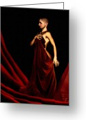 Survivor Greeting Cards - Bold and Red Greeting Card by Lourry Legarde