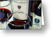 Opus One Greeting Cards - Bold Reds Greeting Card by Christopher Mize