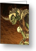 Third Age Greeting Cards - Bolg The Goblin King Greeting Card by Curtiss Shaffer