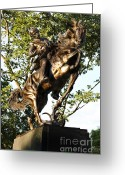 Commission Greeting Cards - Bolivar Plaza Jose Marti Equestrian Statue Greeting Card by Lee Dos Santos