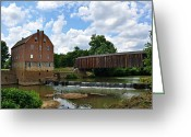 Marty Koch Greeting Cards - Bollinger Mill and Covered Bridge Greeting Card by Marty Koch