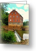 Marty Koch Greeting Cards - Bollinger Mill Greeting Card by Marty Koch