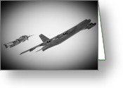 Buff Greeting Cards - Bomber Pair Greeting Card by Bob Mintie