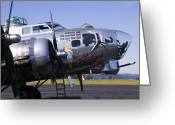 Armament Greeting Cards - Bomber Sentimental Journey Greeting Card by Garry Gay
