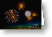 4th July Greeting Cards - Bombs Bursting In The Air Greeting Card by Robert Bales