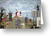 Cajun Greeting Cards - Bon Temps de Mardi Gras Greeting Card by Charlene White