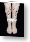 Varnish Greeting Cards - Bonded Legs Greeting Card by Joana Kruse