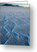 Forbidding Greeting Cards - Bonneville Salt Flats Utah Greeting Card by Utah Images