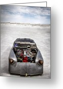 Motorcycle Photo Greeting Cards - Bonneville Speed Week Images Greeting Card by Holly Martin