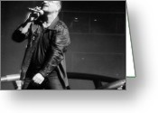 U2 Photo Greeting Cards - Bono in Tampa Greeting Card by WaLdEmAr BoRrErO