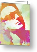 Band Digital Art Greeting Cards - Bono Greeting Card by Irina  March