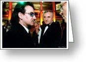 U2 Photo Greeting Cards - Bono Greeting Card by Rebecca DAngelo