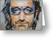 Clayton Painting Greeting Cards - Bono Greeting Card by Stanciu Razvan