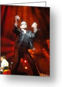 U2 Photo Greeting Cards - Bono Greeting Card by Tara Nightingale