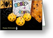 Lynnette Johns Greeting Cards - Boo Greeting Card by Lynnette Johns