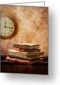 Time Stack Greeting Cards - Books Of Time Greeting Card by Image by J. Parsons