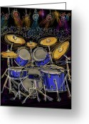 Drum Sticks Greeting Cards - Boom crash Greeting Card by Russell Pierce