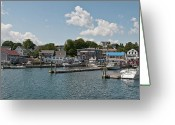 Guywhiteleyphoto.com Greeting Cards - Boothbay Harbor 1242 Greeting Card by Guy Whiteley