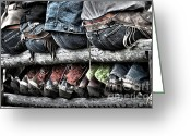 Cowboy Boots Greeting Cards - Boots and Butts Greeting Card by Heather Swan