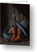 Cowboy Boots Greeting Cards - Boots Greeting Card by Antonio F Branco
