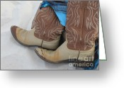 Grayton Beach Greeting Cards - Boots on Beach Greeting Card by Jan Prewett