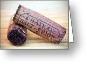 Anniversary Greeting Cards - Bordeaux Wine Corks Greeting Card by Frank Tschakert