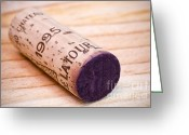 Grand Cru Classe Greeting Cards - Bordeaux Wine Greeting Card by Frank Tschakert