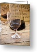 Food And Beverage Greeting Cards - Bordeaux Wine Tasting Greeting Card by Frank Tschakert