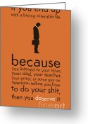 Sad Greeting Cards - Boring miserable life Greeting Card by Budi Satria Kwan