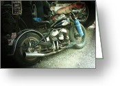 Motorbike Greeting Cards - Born in the USA Greeting Card by Christine Till