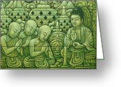 Borobudur Greeting Cards - Borobudur Buddha Greeting Card by Ketut Wisata