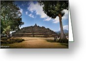 Borobudur Greeting Cards - Borobudur Greeting Card by David Dede Dewantoro