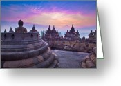 Borobudur Greeting Cards - Borobudur Indonesia Greeting Card by Albert Tan photo