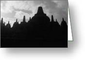 Borobudur Greeting Cards - Borobudur Temple Greeting Card by Ari Saaski