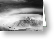 Borobudur Greeting Cards - Borobudur Temple Greeting Card by Rizky DP