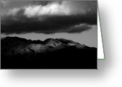 Desert Greeting Cards - Borrego Clouds Greeting Card by Peter Tellone