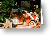 Shack Greeting Cards - B.O.s Fish Wagon in Key West Greeting Card by Susanne Van Hulst